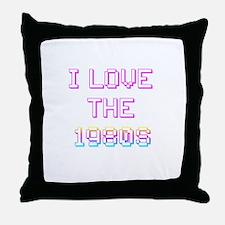Rainbow I love the 1980s / 80 Throw Pillow