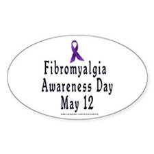 Fibro Awareness Day Oval Decal