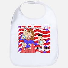 SuperMom for President Bib