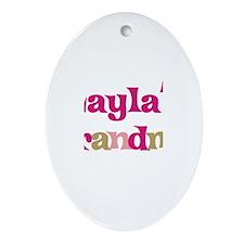 Layla's Grandma Oval Ornament