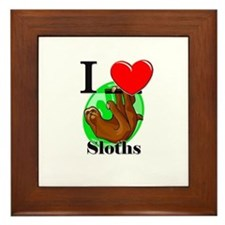 I Love Sloths Framed Tile
