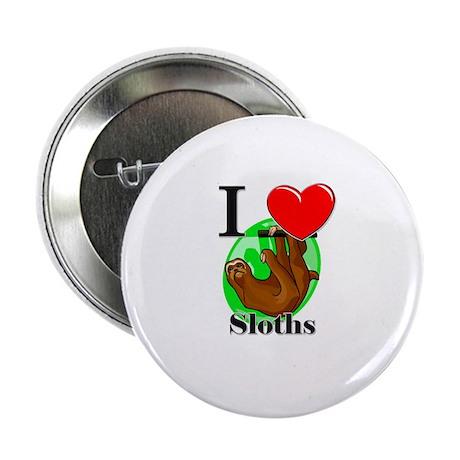 "I Love Sloths 2.25"" Button"