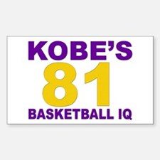 """Kobe's Basketball IQ: 81"" Decal"