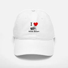 I Love Sloth Bears Baseball Baseball Cap