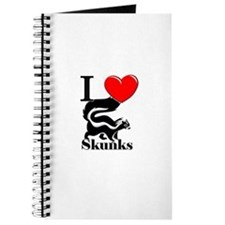 I Love Skunks Journal