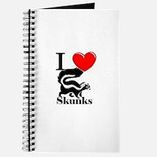I Love Skunks Journal