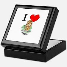 I Love Siberian Tigers Keepsake Box