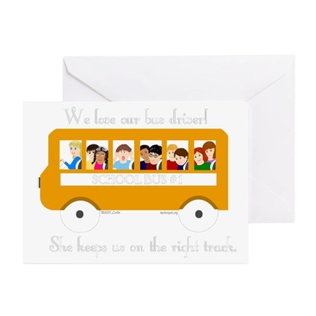 Bus Driver - The Right Track Greeting Cards (Pk of