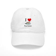 I Love Sea Lions Baseball Cap