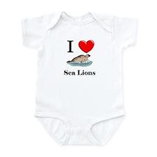 I Love Sea Lions Infant Bodysuit