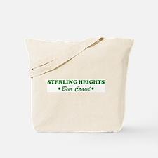 STERLING HEIGHTS beer crawl Tote Bag