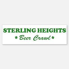 STERLING HEIGHTS beer crawl Bumper Car Car Sticker