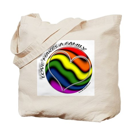 Love Makes A Family Gay Pride Tote Bag