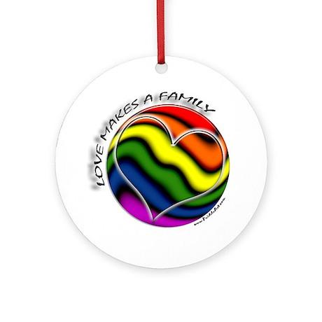 Love Makes A Family Gay Pride Keepsake (Round)