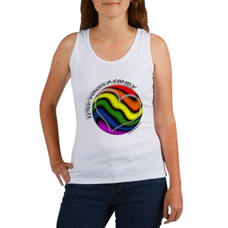 Love Makes A Family Gay Pride Women's Tank Top