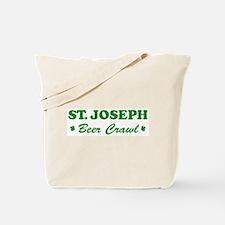ST JOSEPH beer crawl Tote Bag