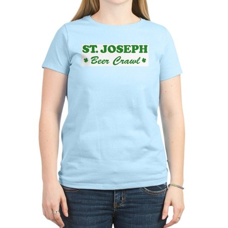 ST JOSEPH beer crawl Women's Light T-Shirt