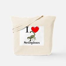 I Love Scorpions Tote Bag