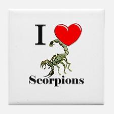 I Love Scorpions Tile Coaster
