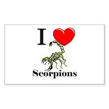 I Love Scorpions Rectangle Decal