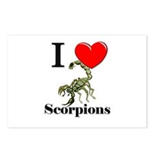 I Love Scorpions Postcards (Package of 8)
