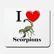 I Love Scorpions Mousepad