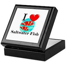 I Love Saltwater Fish Keepsake Box