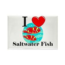 I Love Saltwater Fish Rectangle Magnet