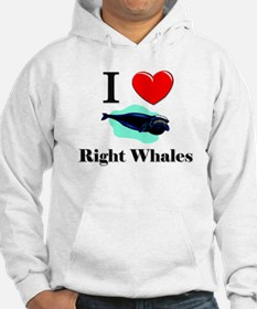 I Love Right Whales Hoodie