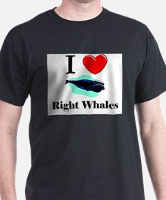 I Love Right Whales T-Shirt