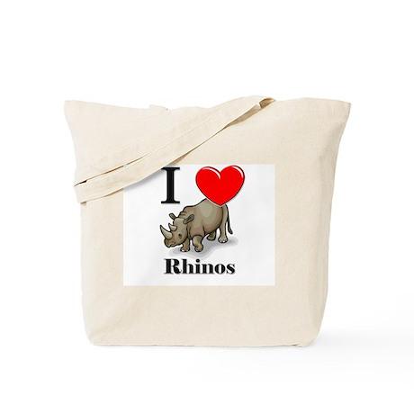 I Love Rhinos Tote Bag