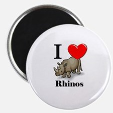 "I Love Rhinos 2.25"" Magnet (10 pack)"