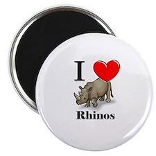 I Love Rhinos Magnet