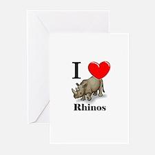 I Love Rhinos Greeting Cards (Pk of 10)