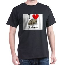 I Love Rhinos T-Shirt