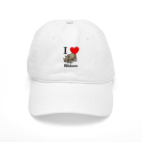 I Love Rhinos Cap