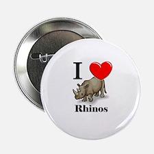 "I Love Rhinos 2.25"" Button"