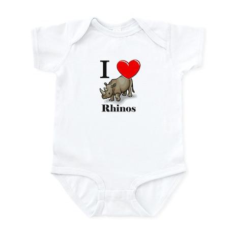 I Love Rhinos Infant Bodysuit