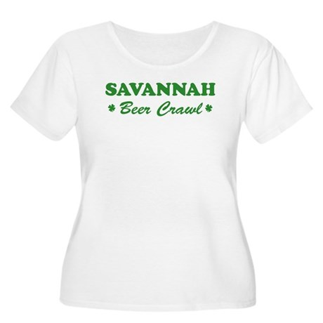SAVANNAH beer crawl Women's Plus Size Scoop Neck T