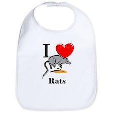 I Love Rats Bib