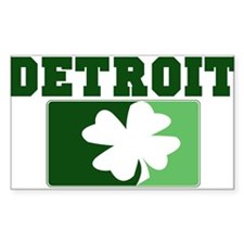 DETROIT Irish (green) Rectangle Decal