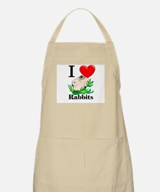 I Love Rabbits BBQ Apron