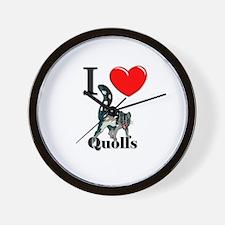 I Love Quolls Wall Clock