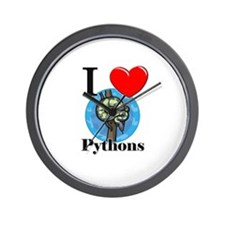 I Love Pythons Wall Clock