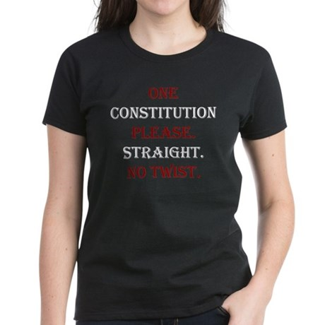 Save United States Constitution Women's Dark T-Shi