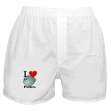 I Love Puffers Boxer Shorts