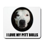 I LOVE MY PITT BULLS Mousepad
