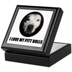 I LOVE MY PITT BULLS Keepsake Box