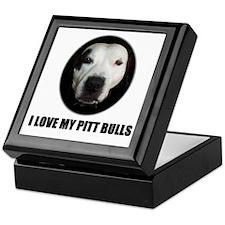 I LOVE MY PITT BULLS Keepsake Box