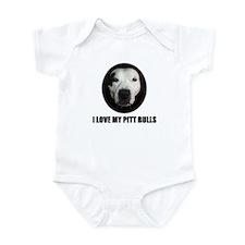I LOVE MY PITT BULLS Infant Bodysuit